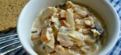 Куриное филе с грибами в соусе «бешамель»