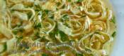 Быстрый суп с омлетной лапшой