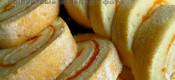 Рулет из «классического» бисквита по Дюкану с тыквенным джемом