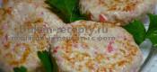 Биточки из куриного филе и крабовых палочек