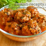 Тефтели из мяса и «риса» в томатном соусе