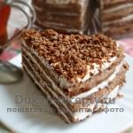 Шоколадный торт на сковороде